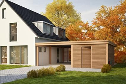 carport aus holz kaufen schreinerei seeger. Black Bedroom Furniture Sets. Home Design Ideas